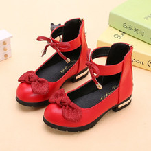 Childrens Big Girls Leather Shoes Girls Princess Kids Shoes For Wedding Party Pink Red Black 4 5 6 7 8 9 10 11-15T rose pink red orange children princess shoes baby girls shoes kids bows rhinestone girls leather shoes kids party shoes 3 15t