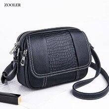 ZOOLER woman leather bags messenger shoulder bag 2019 fashion genuine leather bag cross body purse luxury bolsa feminina #LT233 недорого