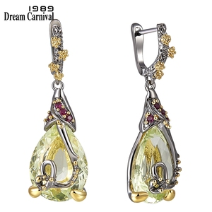 Image 5 - DreamCarnival1989 Big Dazzling Zirconia Necklace + Earrings Set Fashion Gift Hot Pick Anniversary Dating Must Have EP3876S2