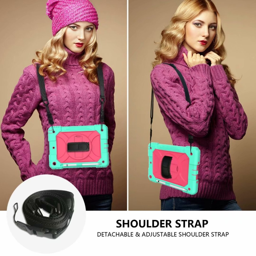 Rotating Pencil 7th iPad Generation For Cover iPad Case Holder Stand Strap Hand For 360