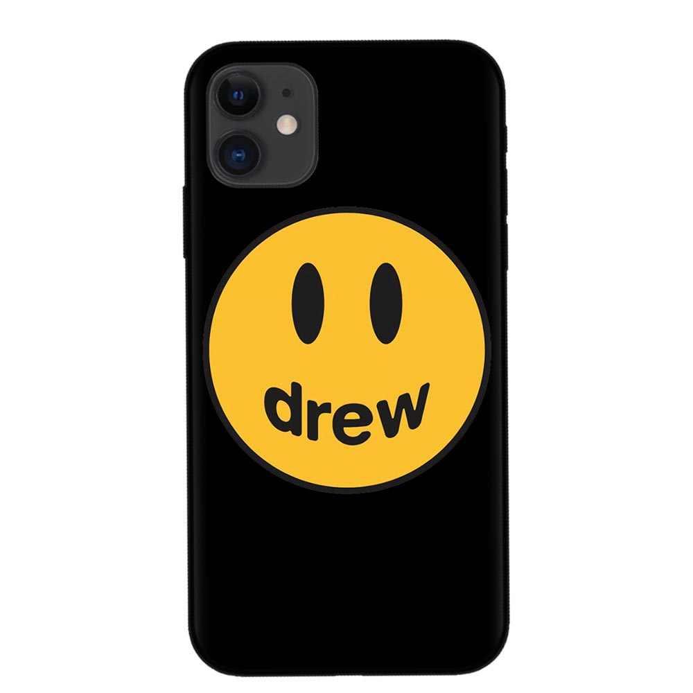 Luxury ยี่ห้อ Justin Bieber drew house Soft ซิลิโคน cover case สำหรับ iphone 6 7 8 8plus X XR XS สูงสุด 11 pro Smiley face โทรศัพท์ coque