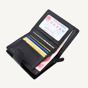Image 5 - 女性の財布ショート 100% シープスキン革織コイン変化ジッパー収納袋ファッションシンプルな高級ブランドMoneyClip2020 新