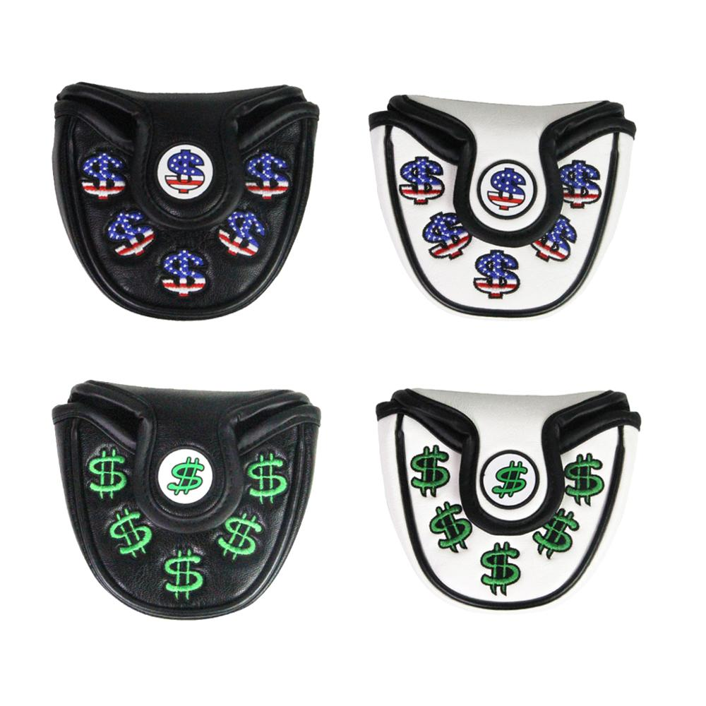 Golf Putter Cover Magnetic Closure US Dollar Multi Color Golf Head Cover For Mallet Putter