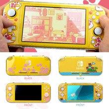 Transparante Sakura Kat Poot Harde Voorkant Back Cover Crystal Shell Voor Nintendo Schakelaar Lite Ns Mini Console Beschermende Huid Case