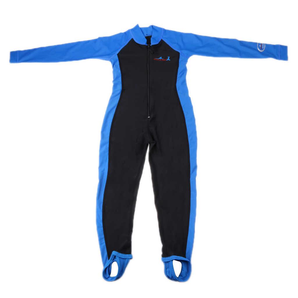 Kids Full Body Badmode Lange Mouw Zwemmen Duiken Wetsuit Kids Full Body Badmode Voor Water Sport