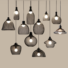 Nordic LED Modern Pendant Lights E27 cage Minimalist indoor hanging light Vintage Industrial Lamp luminaire Lighting Dining Room