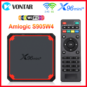 Image 1 - 2021 X96 Mini Plus TV Box Android 9.0 Amlogic S905W4 Quad Core A53 Dual Wifi H.265 4K 30fps supporto Google Voice Youtube X96Mini