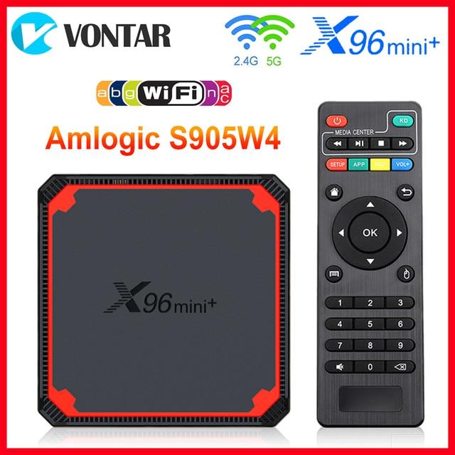 2021 X96 Mini Plus TV Box Android 9.0 Amlogic S905W4 Quad Core A53 Dual Wifi H.265 4K 30fps supporto Google Voice Youtube X96Mini