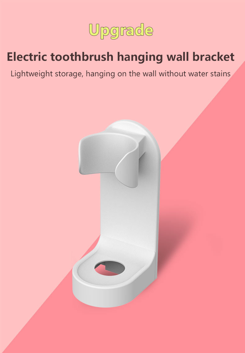 New Hot Electric Toothbrush Holder Traceless Toothbrush Stand Rack Wall-Mounted Bathroom Adapt 90% Electric Toothbrush Holder image