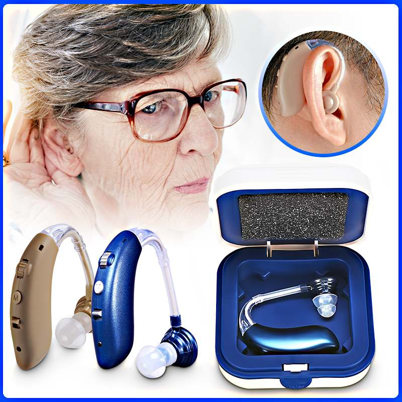 NEW 1PCS USB Rechargeable Wireless Bluetooth Hearing Aid Headphones Sound Enhancer Amplifier Digital For The Deaf Elderly