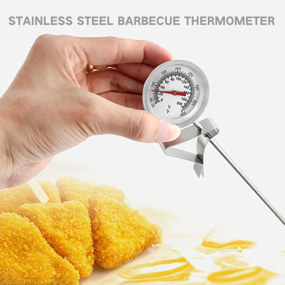 High Quality SOLEDI Silver Food Thermometer Gauge Tools with 200 Degrees Celsius Temperature Range and Quick Temperature Measurement 5