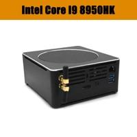 HUNSN Top Gaming Computer Intel i9 8950HK i7 8750H i5 8300H Windows 10 Pro 2*DDR4 6 Core 12 Threads Nuc Mini PC AC WiFi HDMI
