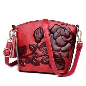 Image 1 - 3D Rose Flower Small Bags For Women 2018 Luxury Handbags Women Bags Designer Women Messenger Shoulder Bag Sheel Sac A Main Femme