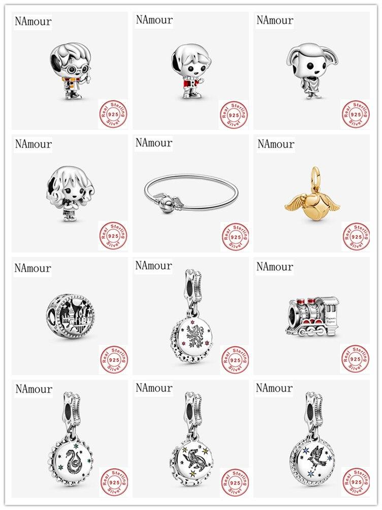 925 sterling silver snitch pendant Express Train school free shipping bead fit Original Pandora charms Bracelet jewelry F318(China)