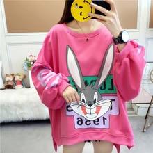 Spring Autumn Loose Sweatshirts Korean Woman Hoodies Long Sl
