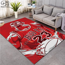 Basketball-Carpet Doormat Jordan Anti-Slip Kitchen Water Absorb 23 3d-Printed