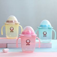 Baby Environmental Protection Feeding Bottle Straw Cup Drinking Bottle Sippy Cups With Handles 6 Colors