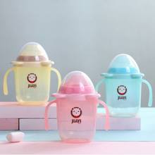 Baby Environmental Protection Feeding Bottle Straw Cup Drinking Bottle Sippy Cups With Handles 6 Colors(China)