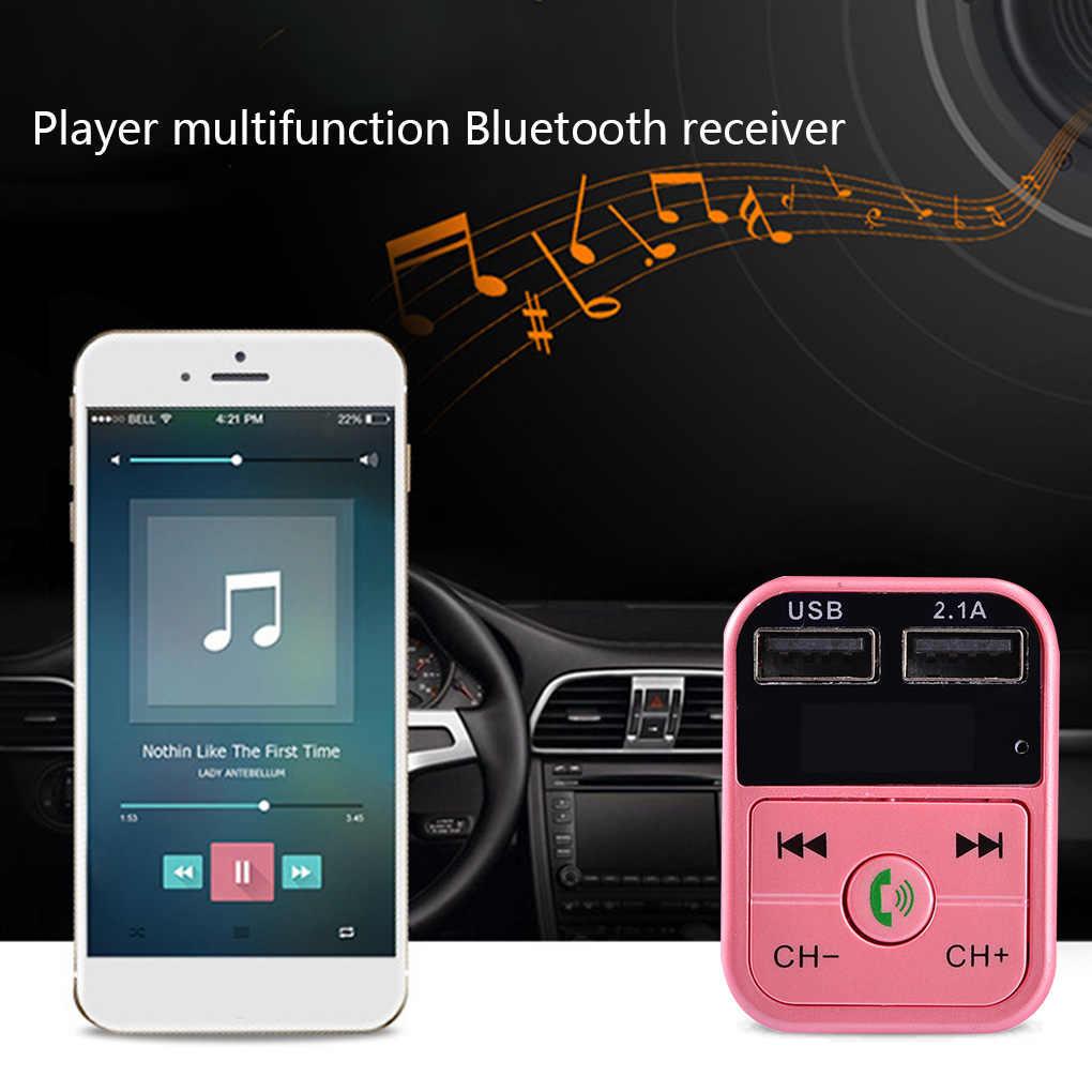 Ładowarka samochodowa bezprzewodowy zestaw samochodowy Bluetooth wyświetlacz LED mobilny wielofunkcyjna ładowarka Usb nadajnik FM MP3 odtwarzacz samochodowy ładowarka