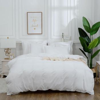 white hotel Duvet Cover Pillowcase Stripe Geometric black red gray Simple Bedding Set 2 or 3 pcs Boy Teen Adult Girl