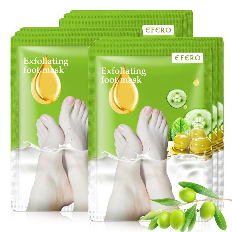 5 זוגות = 10 יחידות טיפול רגליים בעקבים פילינג מסיכת רגליים מסכת פילינג רגליים לרגליים גרבי סוסו לפדיקור מסיר ציפורניים