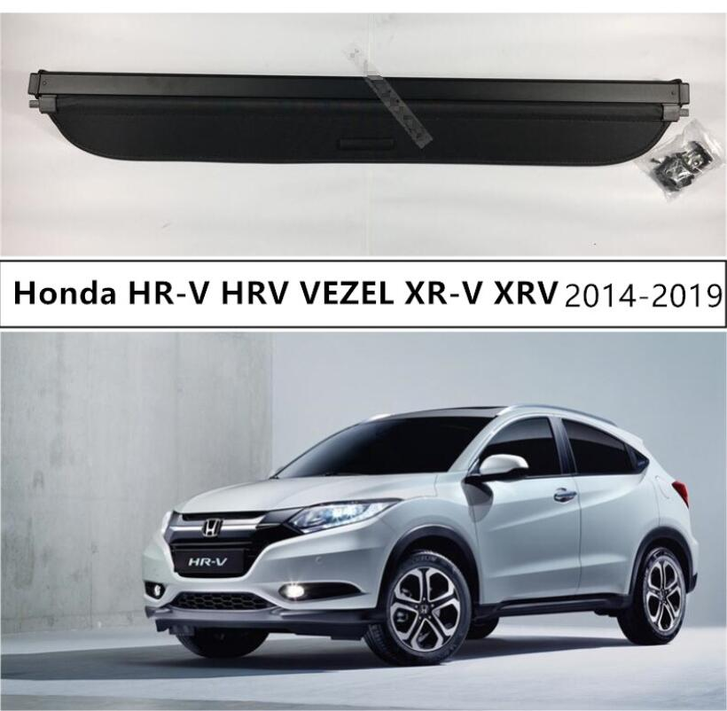 For <font><b>Honda</b></font> HR-V <font><b>HRV</b></font> VEZEL XR-V XRV 2014-2019 Rear Trunk Cargo Cover Security Shield High Qualit Auto <font><b>Accessories</b></font> Black Beige image