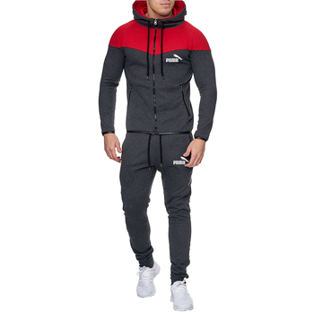 2020 New Two Pieces Set Tracksuits Men Hoodies Sweatshirt And Sweatpants Elastic Waist Casual Mens Clothing Pants Size S-3XL