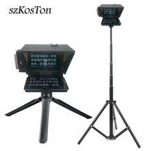 Telefono DSLR fotocamera Teleprompter per intervista lettore vocale riprese Video telefono cellulare portatile Prompter artefatto telecomando