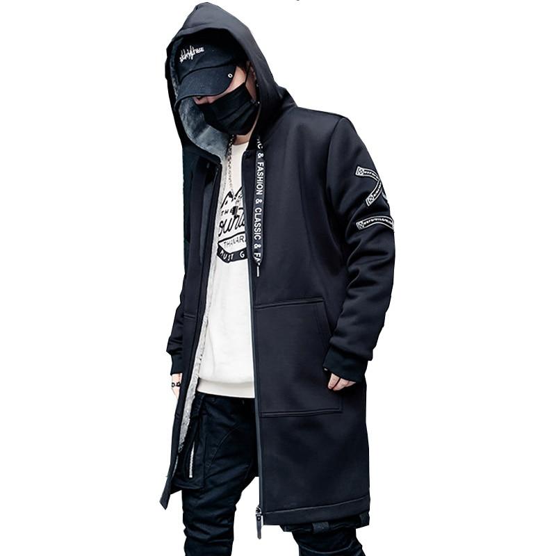 Мужская зимняя куртка, Длинная с капюшоном, тонкая, модная, повседневная, толстая, теплая, куртка, Мужская, размера плюс, 5XL, мужская одежда