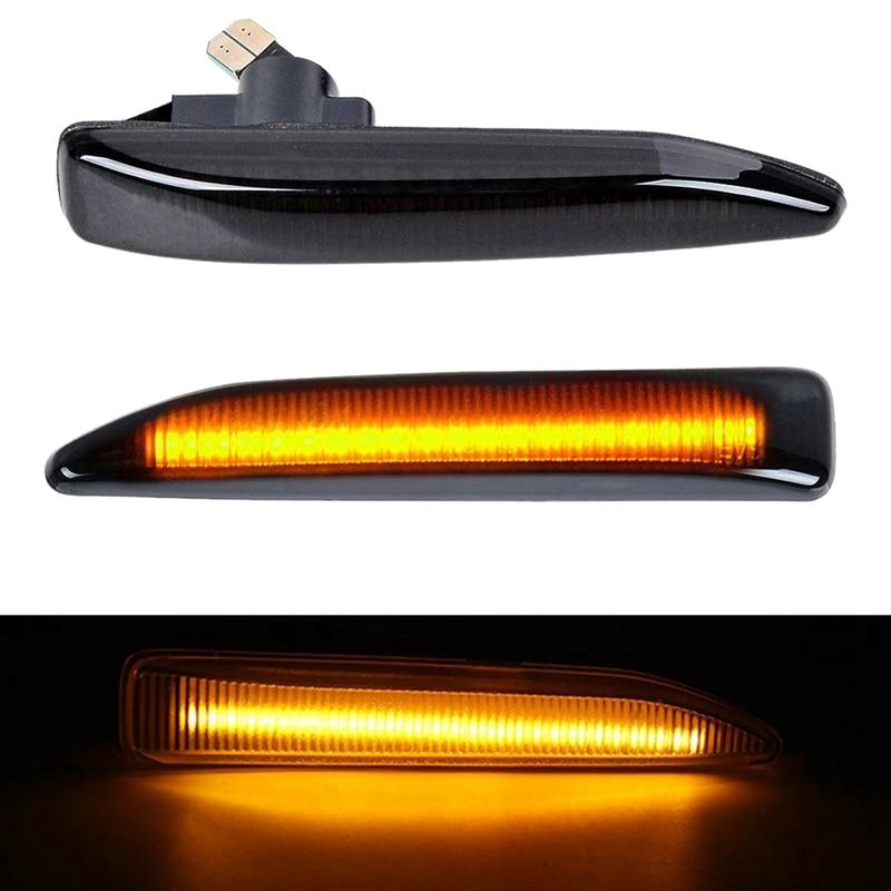 2Pcs Car LED Side Marker Lights Turn Signal Light Side Repeater Lamp For BMW 7 Series E65 E66 E67 E68