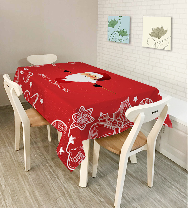 Table Cloth - Art Table Cloth - Christmas Party, Table Cloth Party, Table Cloth Festival wedding table cloth tablecloth <font><b>140*180</b></font> image