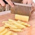 Edelstahl Welle Messer Einfach Slicing Kartoffel Schneiden Well Messer Frites Chips Cutter Slicer Kochen Werkzeug Küche Gadget