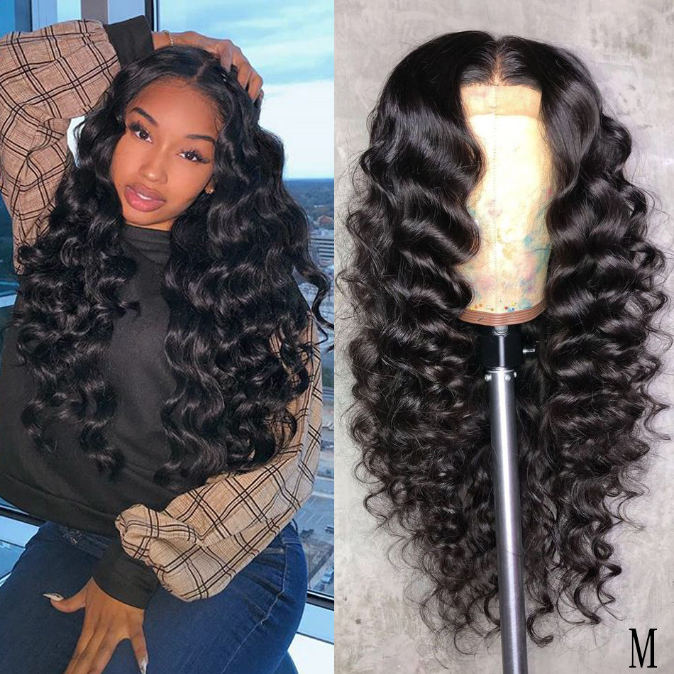 Loose Wave Lace Front Human Hair Wigs 13x4 Pre Plucked With Baby Hair Malaysian Hair Wigs Alimice Remy Hair Lace Frontal Wigs