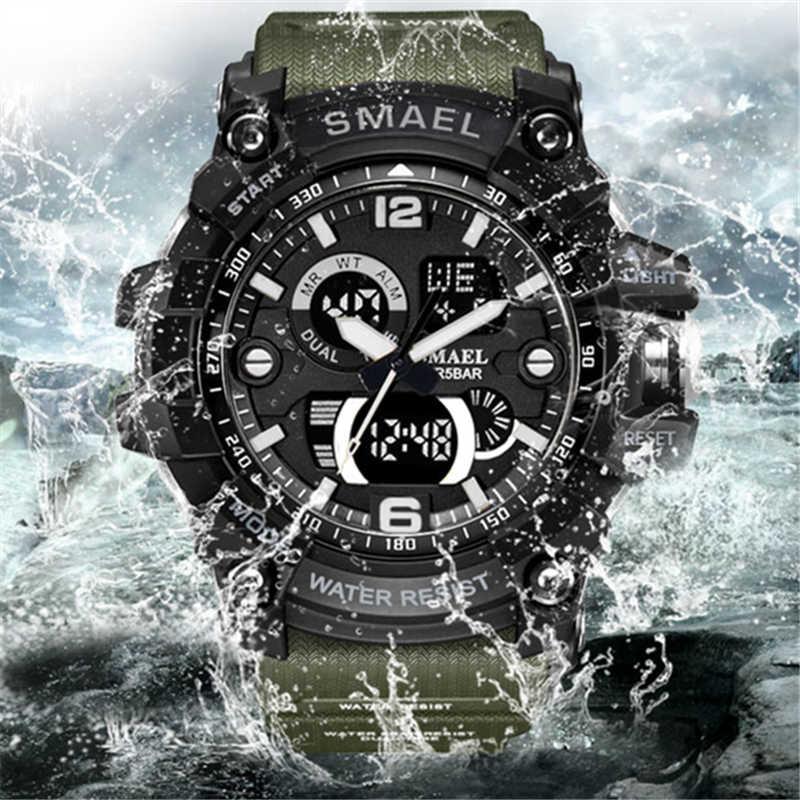 2020 marca superior de luxo relógio casual masculino esporte militar al35 movimento led digital quartzo relógios multifuncionais relogio masculino