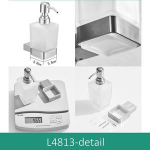 Image 5 - ห้องน้ำ Liquid SOAP Dispenser ติดผนัง 304 สแตนเลสแปรง Bickel สำเร็จรูปแชมพูสบู่ ML9313