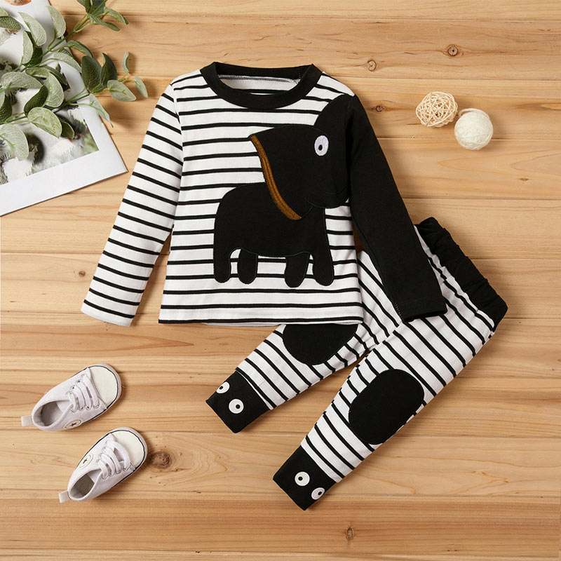 Fashion Autumn New Baby Clothing Set Cartoon Cotton Baby Boys Girls Baby Clothes suit