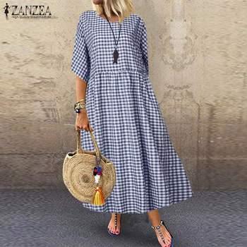 Casual Cotton Linen Maxi  Plus Size 1