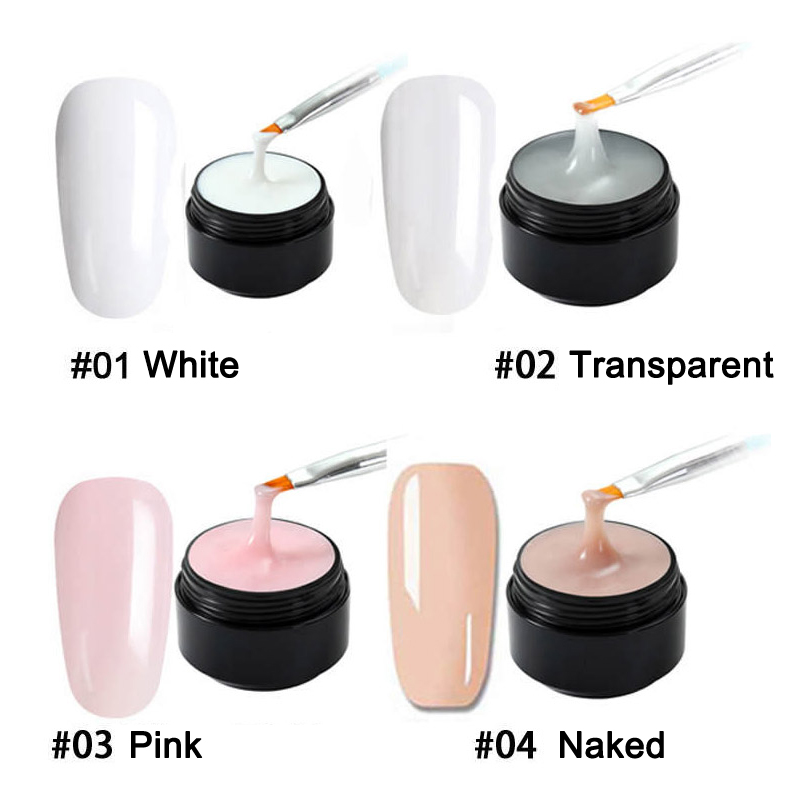 New Hot Poly Gel Hard Finger Nail Extension UV LED Jelly Nail Gel Acrylic Builder Fast Dry SMR88