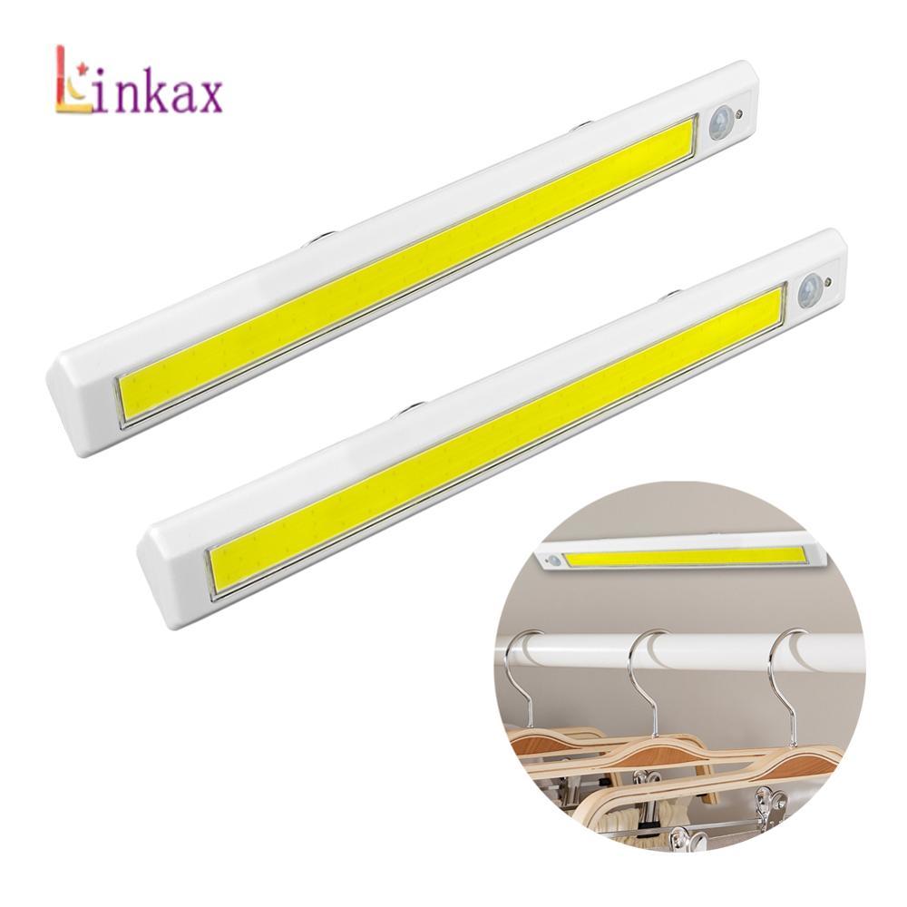 New LED PIR LED Motion Sensor Light Cupboard Wardrobe Bed Lamp LED Under Cabinet Night Light For Closet Stairs Kitchen