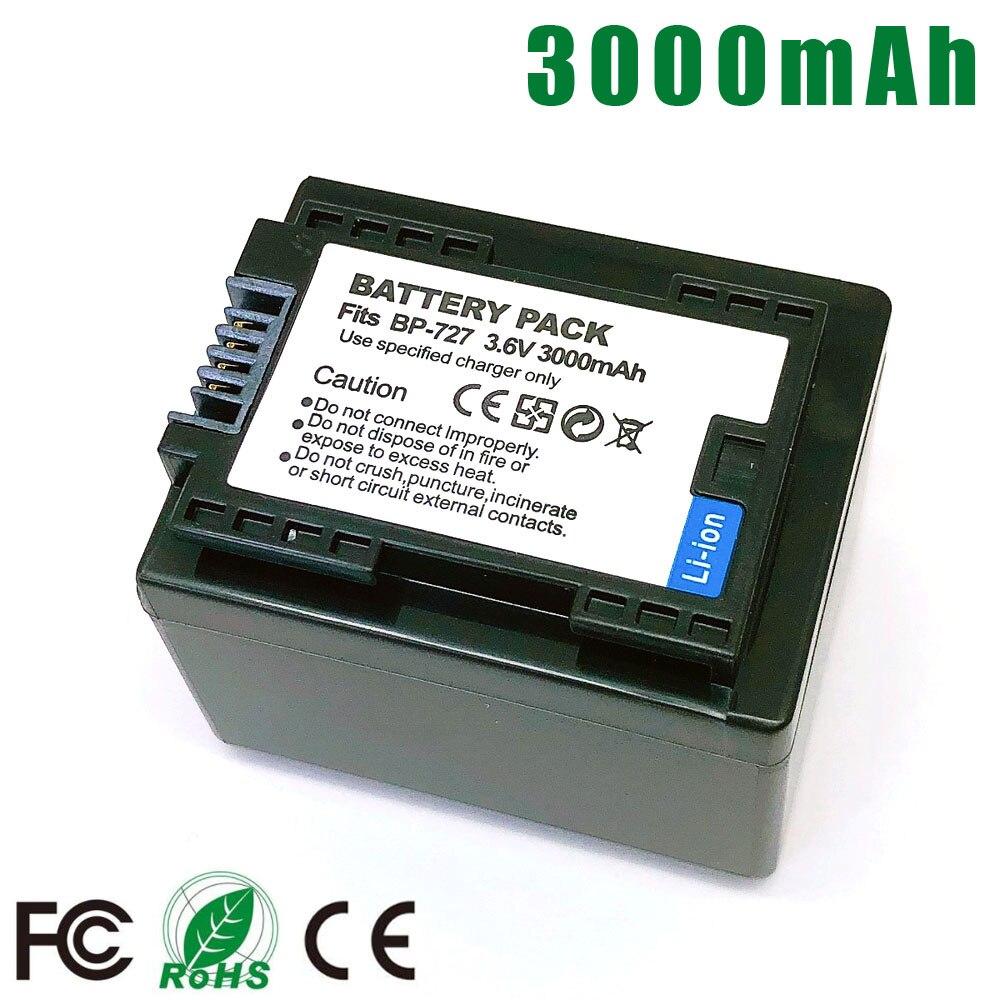 BP-727 BP727 BP 727 718 709 Батарея для Canon HF R30 M50 M52 500 M56 M506 R36 R38 R306 R400 R500 R600 R60 R62 BP-709 BP-718