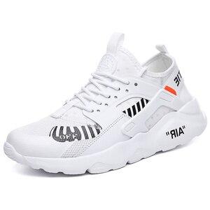 Image 2 - أحذية رجالي قابلة للتنفس 39 ~ 46 خفيفة الوزن 2019 موضة أحذية رياضية للرجال # LAG32