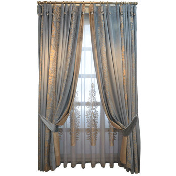 2021 luxury Splicing Chenille beautiful American Luxurious French Curtains for Living Room Bedroom Neo-Classical Velvet Curtains
