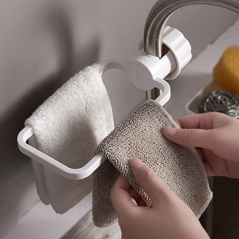 Sink Faucet Clip Dish Cloth Dry Towel Organizer Hanging Storage Rack ABS Bathroom Kitchen Holder Rag Accessories Drain Toilet