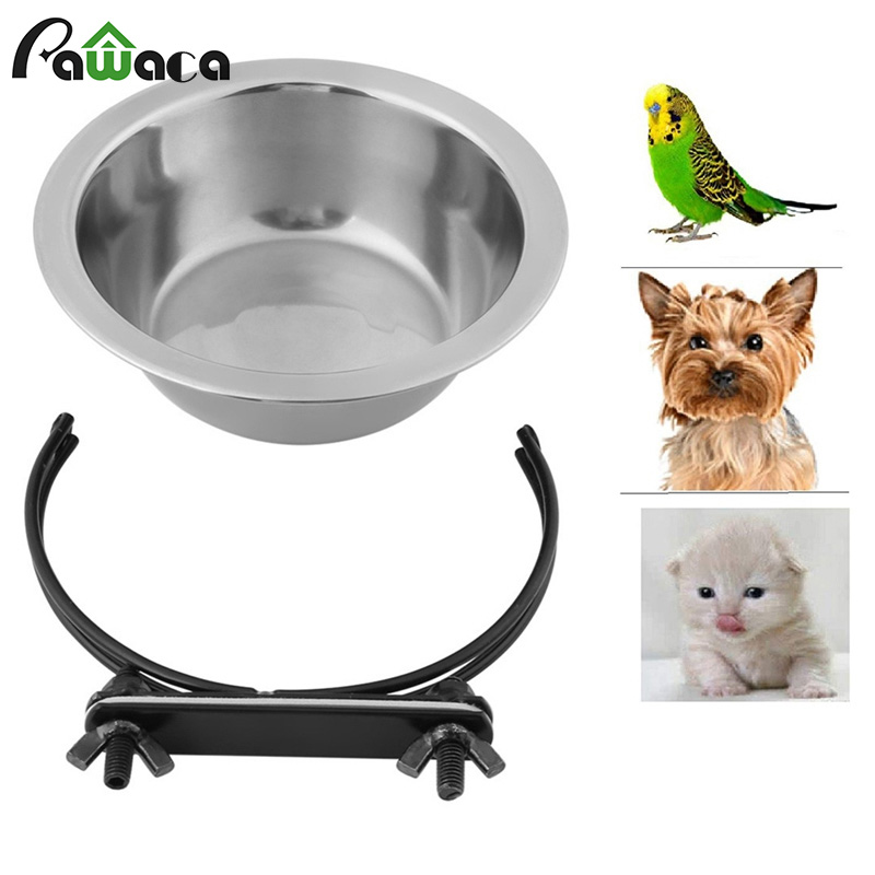 Pet Hanging Stainless Steel Pendant Bowl Removable Water Feeder Three-dimensional Stationary Dog Bowl Outdoor Travel Pet Supply