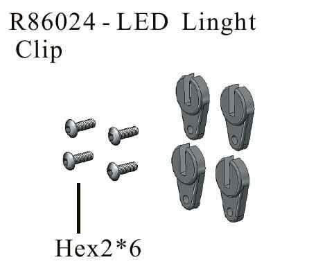 RGT RC repuestos R86024 LED Clip de luz para EX86100 Rock Cruiser RC orugas