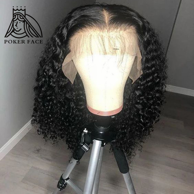 Deep Curly Lace Front Human Hair Wigs 13x4 Lace Frontal Wigs With Baby Hair Bob Wigs 150 180 Density Wig Remy