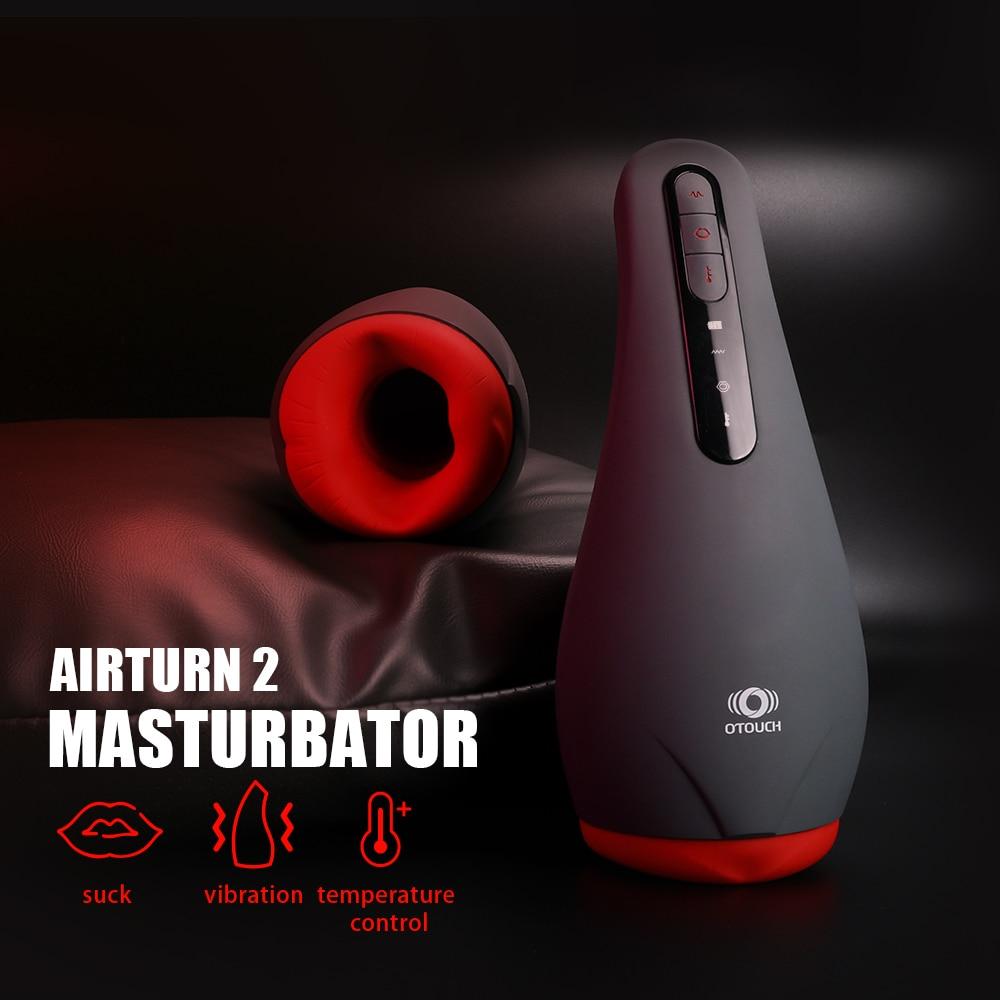 OTOUCH Male Masturbator Automatic Blowjob Heating Sucking Mouth Masturbation Cup Penis Sex Toys for Men Oral Stimulator Machine