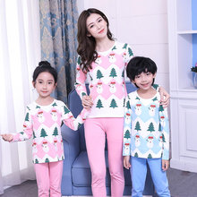 Matching Christmas Pajamas Set Mother Son Outfits Sleepwear Mom and Baby Couples Family Clothes
