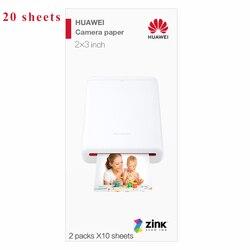 Портативный huawei принтер печатающий фотографии с телефона использовать фотобумагу 20 40 60 80 100 листов упаковка A8 Размер