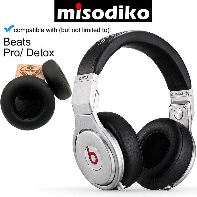 Misodiko almohadillas de oreja de repuesto Kit de cojín para Beats by Dr. Dre Pro/ DETOX Over Ear Wired, partes de reparación de auricular Earpads
